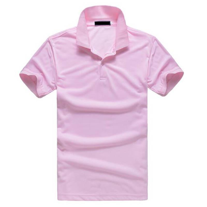 2019 Summer New Plus Size Solid Color Short Sleeve Pink Polos T Shirt Men Women Tops S M L XL XXL XXXL