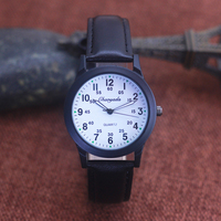 Chaoyada Mode Männer Jungen Lederband 24 Stunden Quarz Armbanduhr Studenten Kinder Lernen Zeit Hohe Qualität Elektrische Uhren