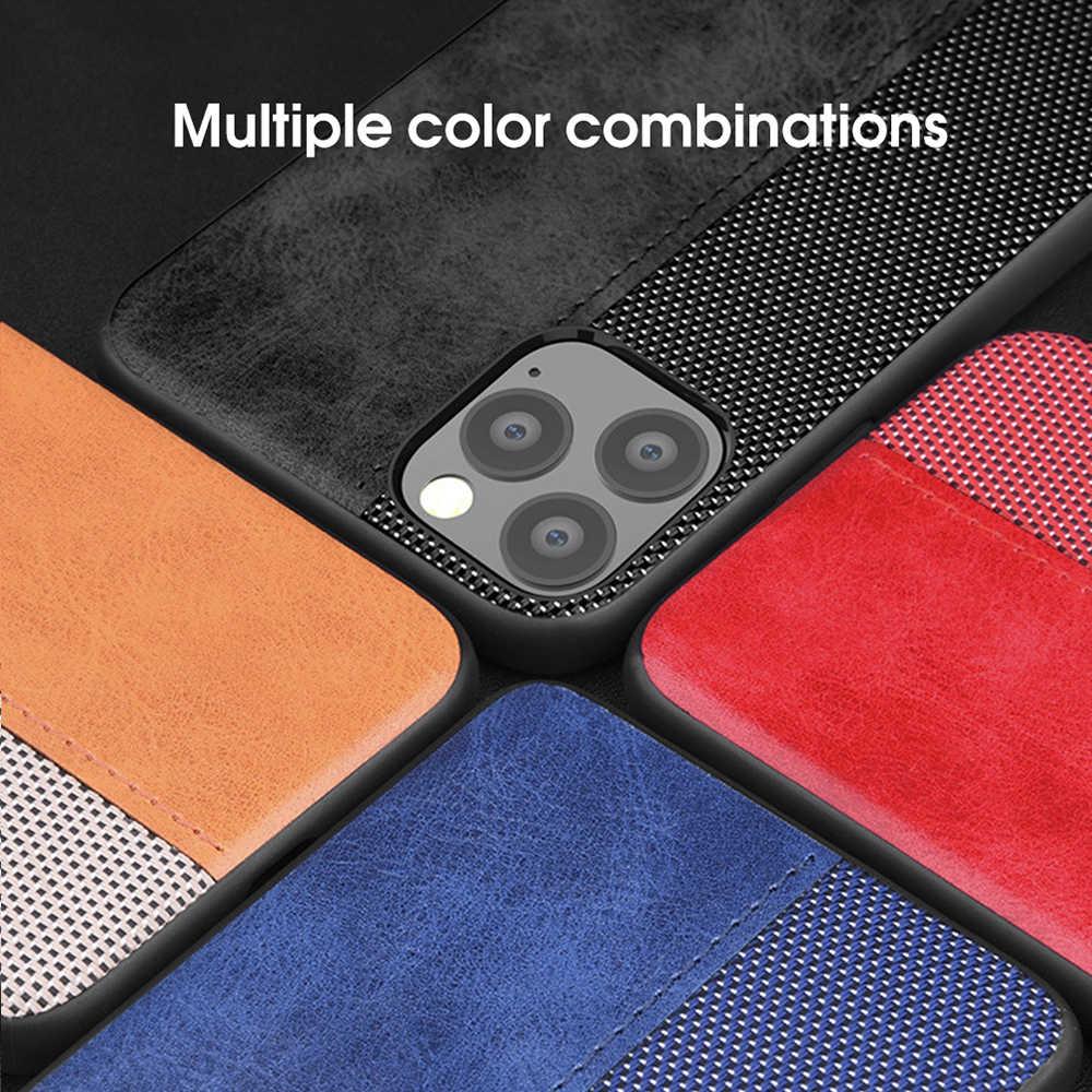 OTAO Leather Case Voor iPhone 11 Pro MAX XS XR X 7 8 Plus Volledige Cover Shockproof Gevallen Voor iPhone 6s 6 Plus 5 Splice Patroon Case