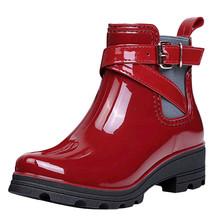 SAGACE buty do butów buty damskie buty zimowe buty kobiece buty zimowe buty zimowe s okrągłe Toe Retro buty przeciwdeszczowe botki dla kobiet tanie tanio ANKLE zipper Stałe Boots Dla dorosłych Plac heel Podstawowe Cotton Fabric Okrągły nosek Zima RUBBER Med (3 cm-5 cm)