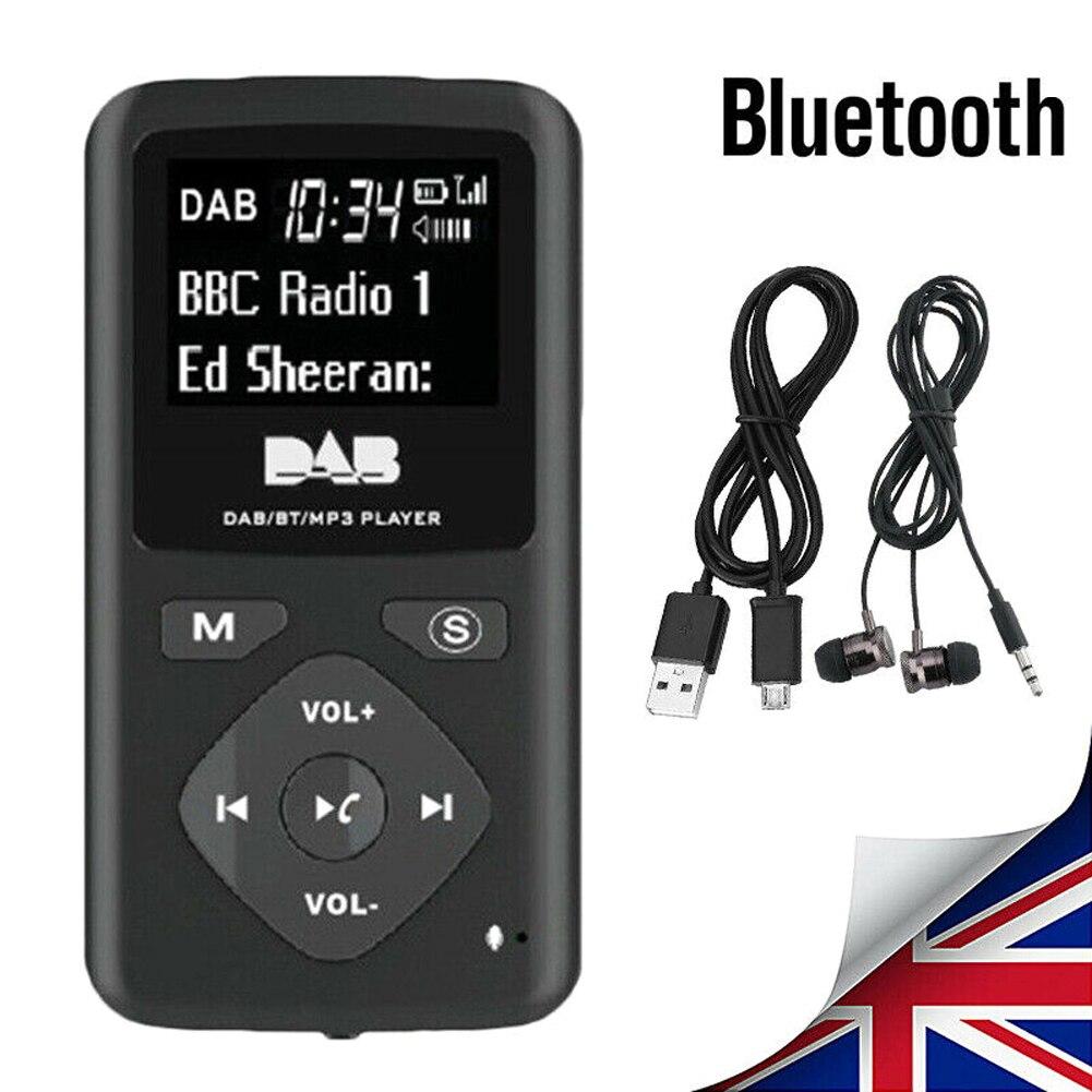 Portable Bluetooth 4.0 Radio Personal Pocket FM DAB/DAB Digital Radio Earphone MP3 Micro-USB DC5V Mini Radio for Home