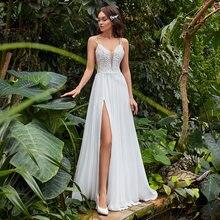 Сексуальная линия свадебное платье 2021 модное богемное на тонких