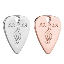2Pcs Metall Gitarre Pick 0,38mm Thin Durable Silber Farbe Professionelle Bass Ukelele Gitarre Picks Rose Gold & Silber(China)