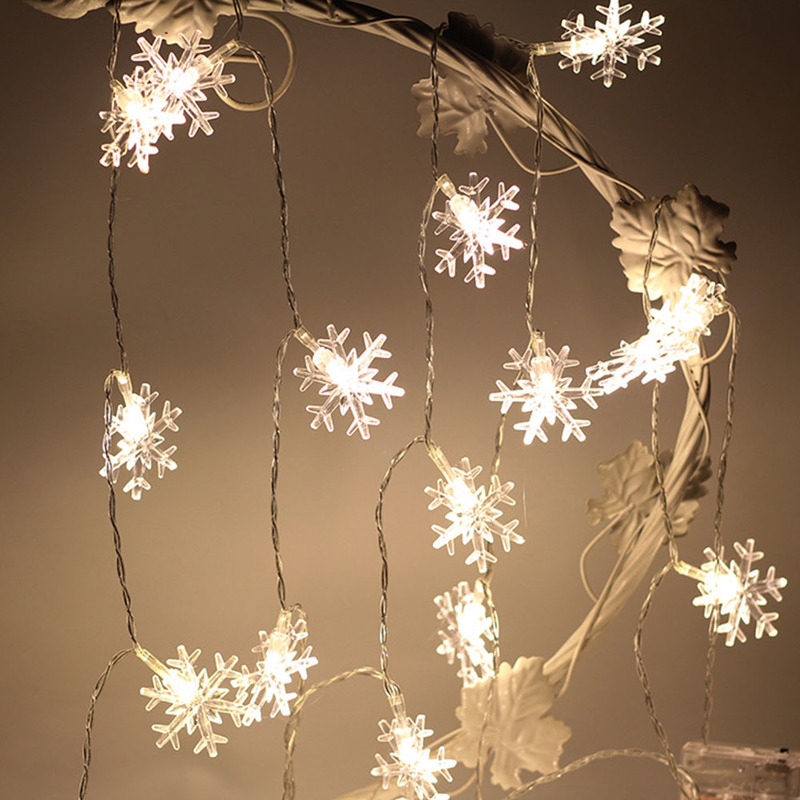 1.5/3/6m LED String Lights Christmas Snowflake Lights 10/20/40LED Warm White/white/colorful Wedding Party Festival Decor Lamp