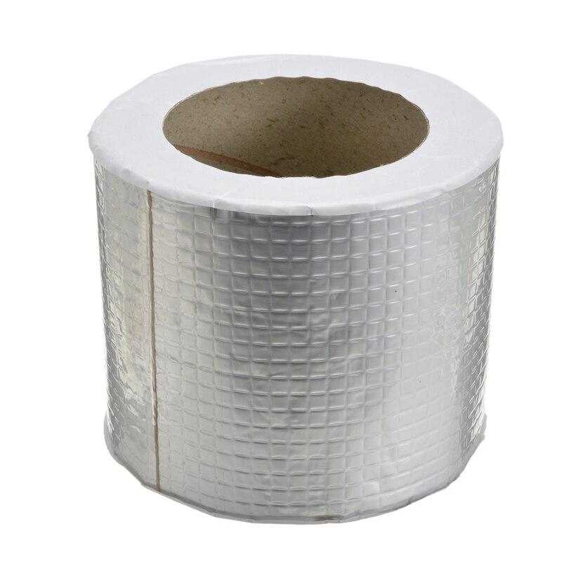 Waterproof Aluminum Foil Butyl Rubber Tape Adhesive Repair Tool 1mmx100mmx5M