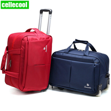 business man Women Travel Bag on Wheels Luggage Suitcase Trolley Luggage Rolling Suitcase Brand Casual Thickening Rolling Case цены онлайн