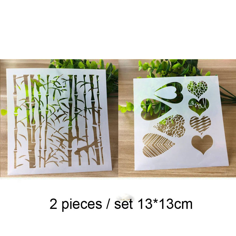 Bamboo Forest Painting Template For Wall Painting Scrapbooking Album Decor Embossing Template Bullet Journal Supplies Stencils