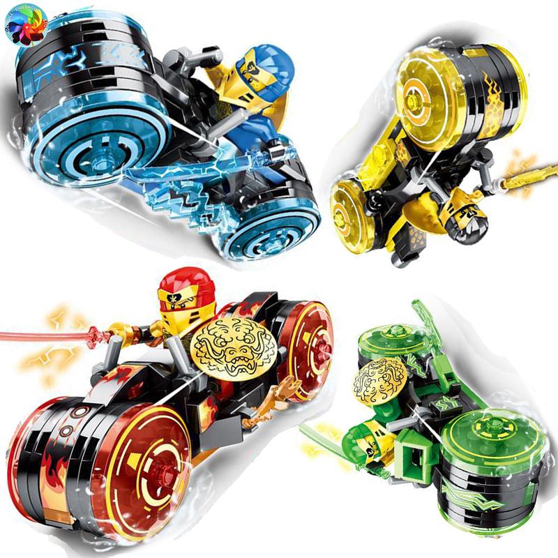4 Types Ninja Motor Motorbike Model Figures Building Blocks Kids Toys Bricks Gift for Children Boys