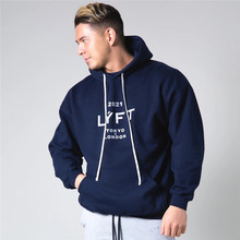 2021 New Spring Tokyo&London Running Men's Hoodies Outdoor Fitness Casual Hooded Letter Print Jogging Sweatshirt Male Pullover