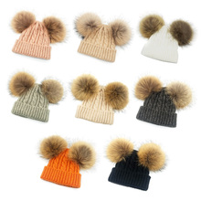 все цены на Baby Hat Kids Winter Newborn Knitted Cap Hats Cute Beanies For Girls Boys Casual Solid Color Headwear Toddler Kids Caps онлайн