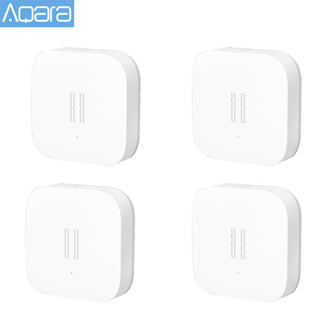 Original Aqara Vibration Shock Sensor Built In Gyro Motion sensor for Xiaomi Mi Home App Global Edition