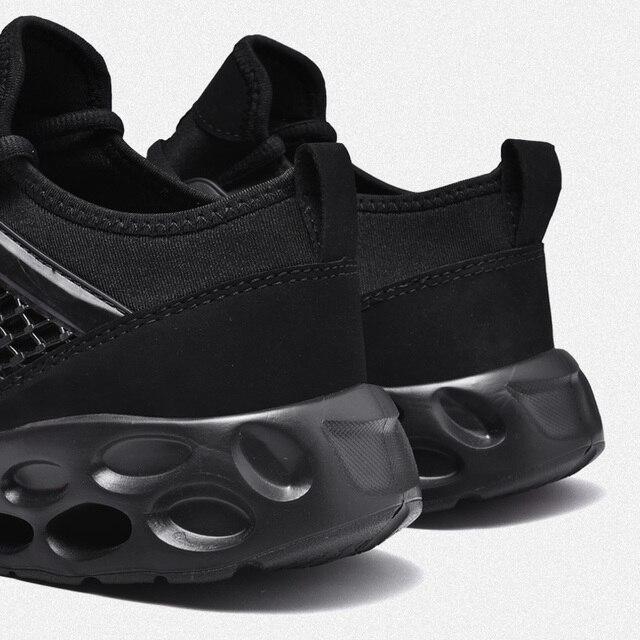 Zapatillas de correr para hombre y mujer, zapatos deportivos transpirables con cordones de alta calidad para caminar al aire libre 3