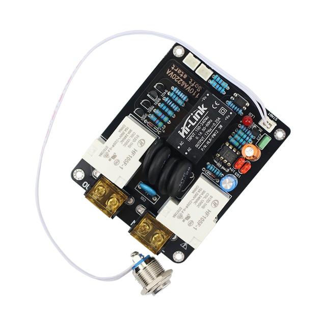 Ghxamp 2000 w 증폭기 스위치 고전력 공급 장치 소프트 스타트 보드 라이트 터치 이중 온도 제어 220 v