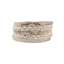 PU leather snakeskin pattern suede hand-woven bracelet magnet buckle fashion ladies jewelry bracelet party gift daughter in law mia mizhu series popular elastic bracelet ladies simple hand woven beach vacation style fashion bracelet
