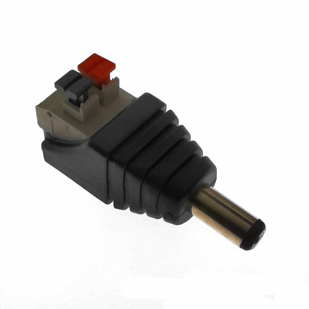 1 Pcs Dc Man Vrouw Connector 2.1*5.5 Mm Dc Power Jack Adapter Plug Connector Voor 3528/5050/5730 enkele Kleur Led Strip