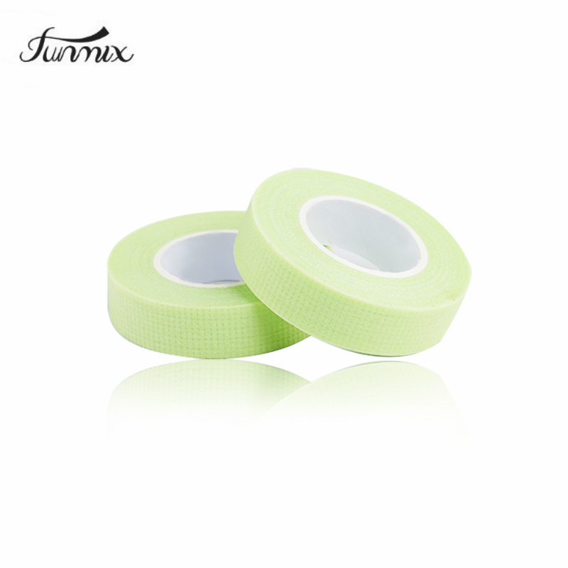 5pcs 2019 New Lint-free Medical Tape Green Non-woven Wrap Tape Under Eye Paper Pads Tape Eye Pads Eyelash Extension tool(China)