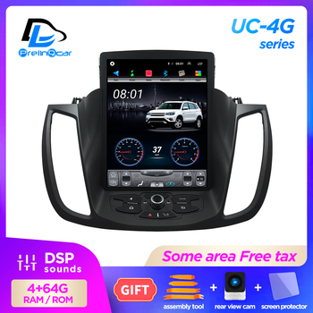 4G Lte 32G ROM Vertical screen android 9.1 system multimedia video radio player for ford kuga 2012-2019 years navigation stereo image