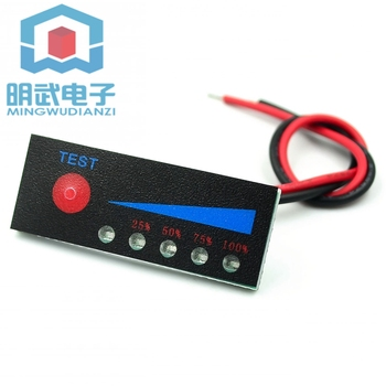 3.7V 2S/3S/4S lithium battery pack power indicator 12V 1 car battery indicator board anti-reverse connection image