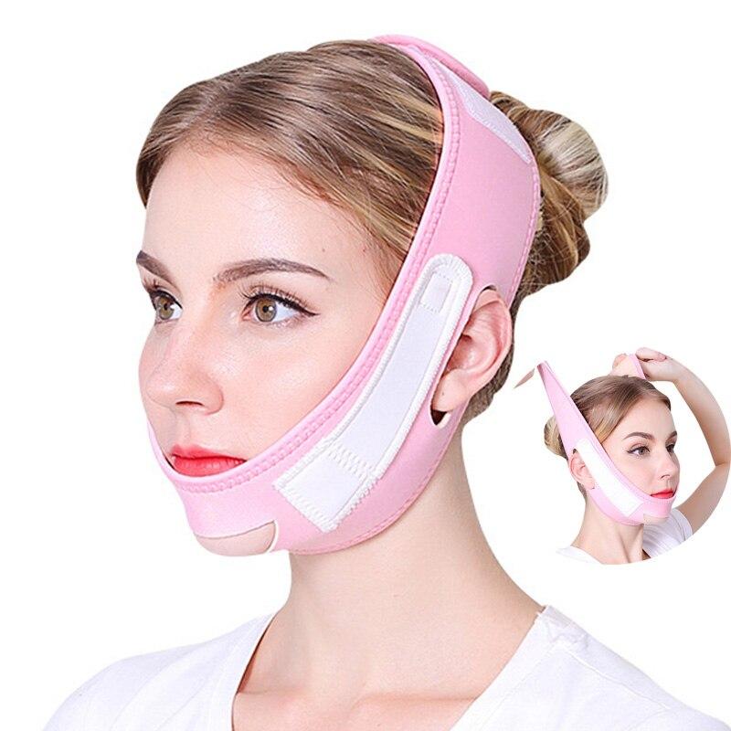 Máscara de cara delgada Facial delicada, vendaje adelgazante para el cuidado de la piel, forma de Correa y Reduce la mascarilla Facial para papadas, banda de adelgazamiento Facial