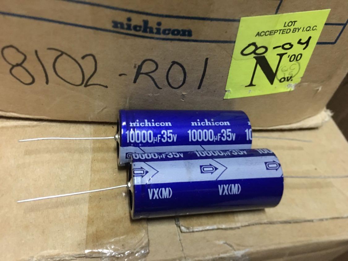 4pcs/10pcs Japan Nichicon Nichicon VX 35V10000UF/35v Electrolytic Capacitor Axial Feedthrough Free Shipping