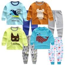 Luna Blanco/От 6 месяцев до 4 лет комплекты одежды из 2 предметов для маленьких мальчиков детские комплекты нижнего белья с длинными рукавами для мальчиков Одежда для маленьких мальчиков из 2 предметов