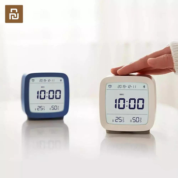 In stock Qingping Bluetooth Temperature Humidity Sensor Night Light LCD Alarm Clock Mihome App control Thermometer
