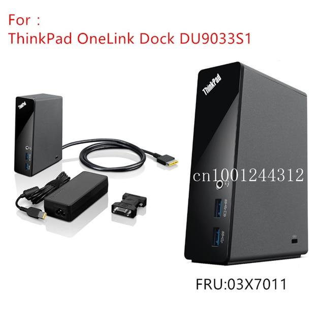 Lenovo Thinkpad OneLink Dock Original pour Lenovo, DU9033S1 E431 E540 E440 E531 S540 S440 S431 S531 X1 carbone Yoga 12 14 15 03X7011, nouveauté