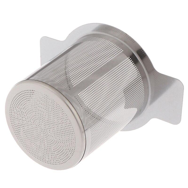 1 шт. чай для заварки с 2 ручками корзины многоразовый тонкий сетчатый фильтр для чая и Кофейная, из нержавеющей стали