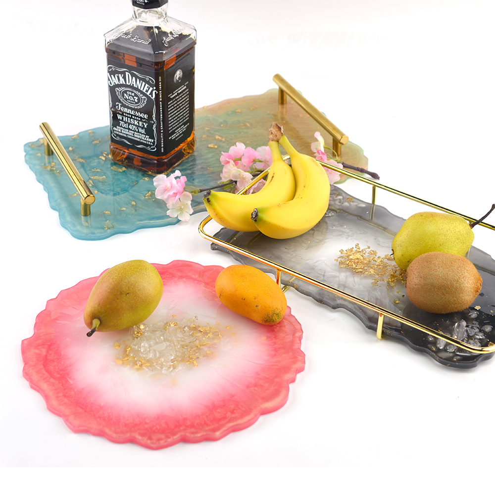 Resin Silicone Mold Set Home Decorative Craft Mold DIY Table Mat Base Coaster Fruit Tray Mold Suit For Jewelry Making