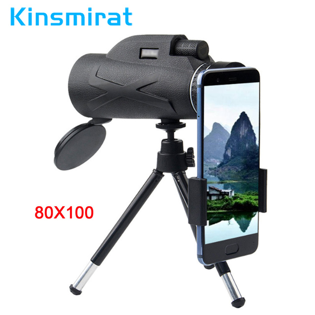 Professional Telescope  80x100 HD Night Vision Monocular Zoom Optical Spyglass Monocle for Sniper Hunting Rifle Spotting Scope 1
