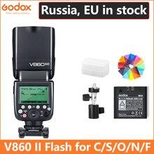 Godox Ving V860 II V860II Speedlite литий ионный аккумулятор быстрая HSS вспышка для sony A7 A7S A7R для Nikon Canon для Olympus Fujigodox ving v860battery flashgodox ving  АлиЭкспресс