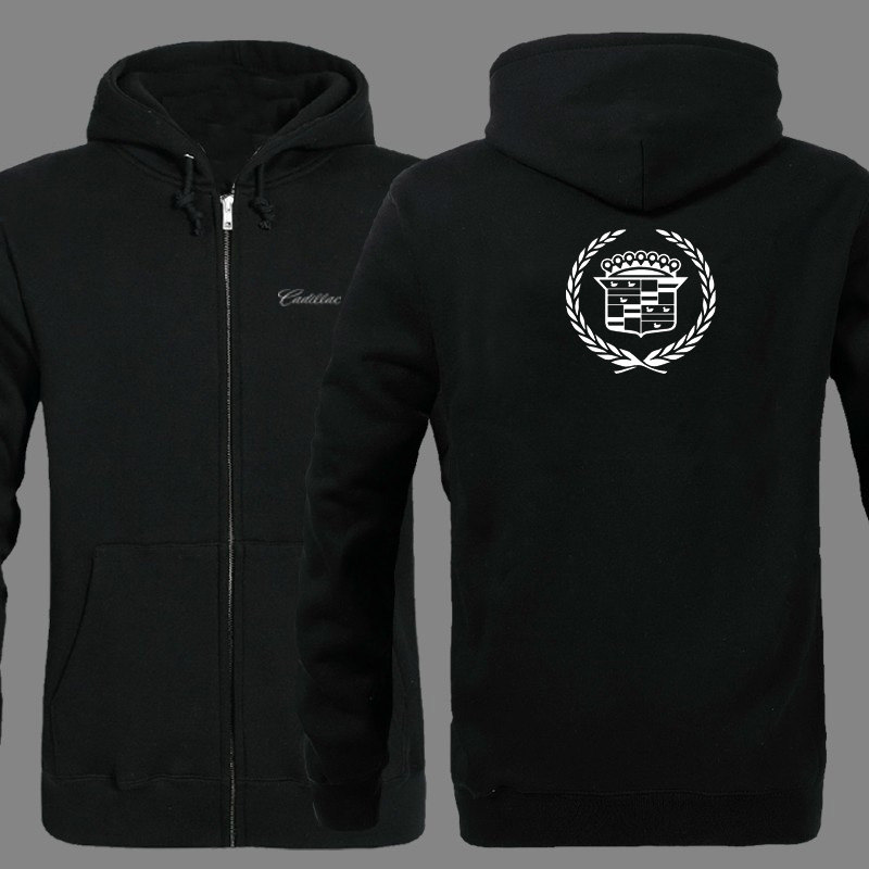 Spring Cardigan Men Cadillac Logo Zipper Hoodies Jacket Print Clothing Fashion Casual Zipper Sweatshirt