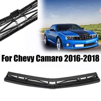 Black Car Front Grille Car Headstock Decor Auto Racing Grille Car Styling Accessories For Chevy Camaro 2016-2018 Car Decoration
