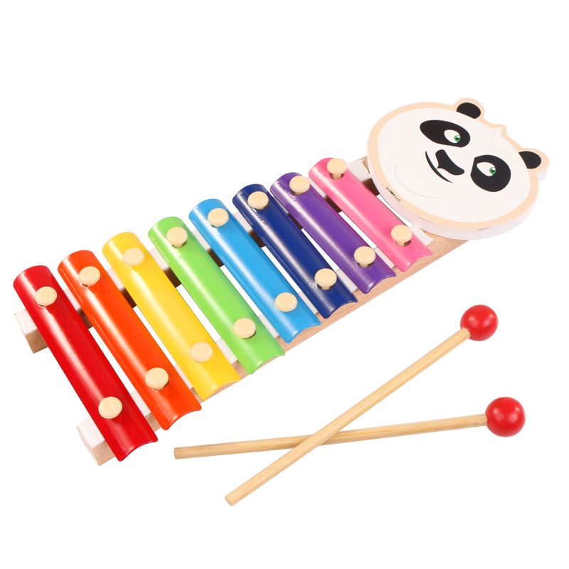Kung Fu Panda Infants Children Toy Piano GIRL'S And BOY'S Baby Educational Music Launcher Toy Gift Eight Tones Xylophone