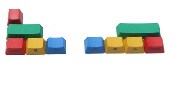 PBT Keycaps Rgby Teknik Keyboard PBT Pengubah Pergeseran Alt Tombol Menang