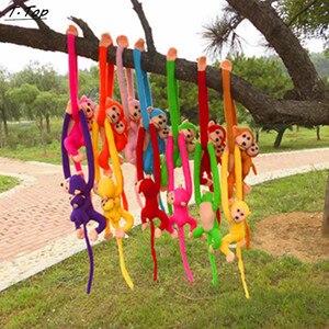 Image 4 - 60Cm Grappige Aap Dier Lange Handen Doll Zachte Pluche Baby Speelgoed Kinderwagen Slapen Gevulde Speelgoed Poppen Kinderen Gift