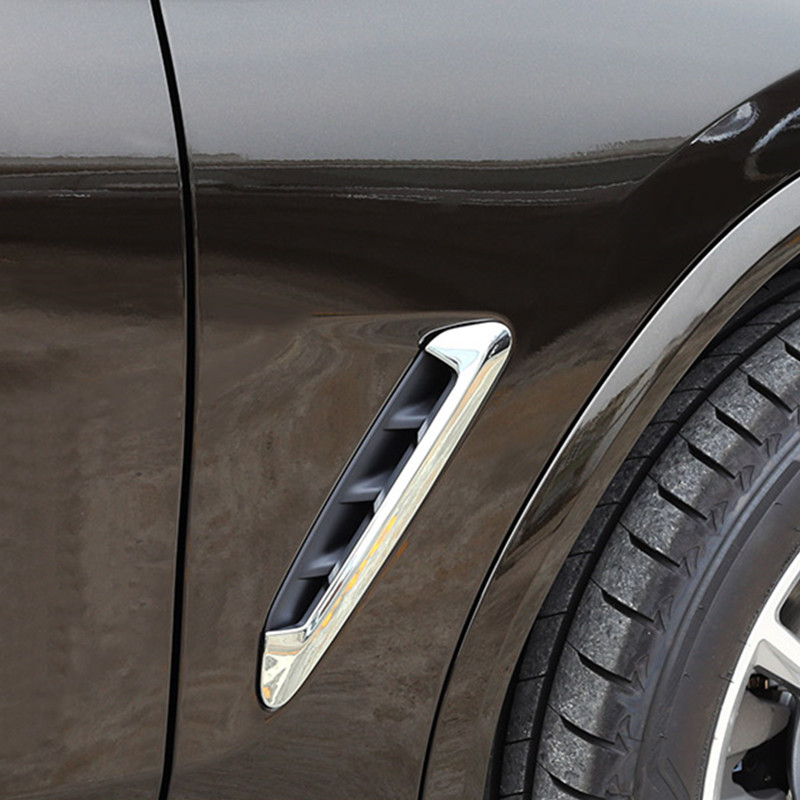Car Styling Both Side Air Outlet Leaf Fender Cover Trim Strips 2pcs For <font><b>BMW</b></font> <font><b>X3</b></font> <font><b>G01</b></font> G08 2018 ABS Auto Exterior Modified Decals image