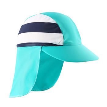 Czapki kąpielowe plażowe czepek dziecięcy szyja dziecięca ochrona przed słońcem wodoodporna czapka sportowa dla chłopców tanie i dobre opinie Wishere CN (pochodzenie) Ochrona uszu pływanie cap NYLON