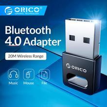 ORICO мини беспроводной USB Bluetooth адаптер серии 4,0 для Windows XP, Vista/7/8/10 соединение с ПК к блютуз адаптер наушников Мышь