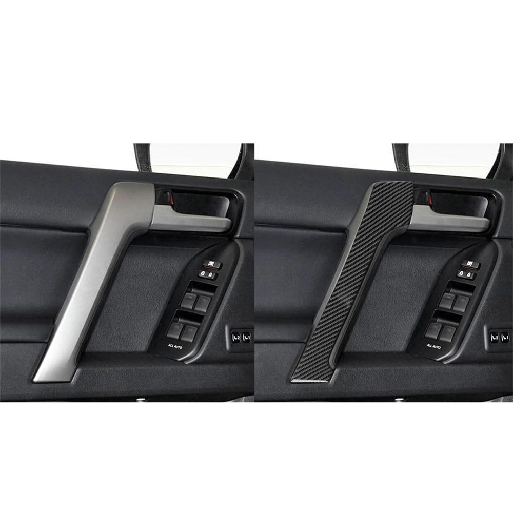 Купить с кэшбэком Car Interior Decoration Door Handle Window Adjustment Switch Frame Cover Trim Strip Stickers For Toyota Land Cruiser Prado