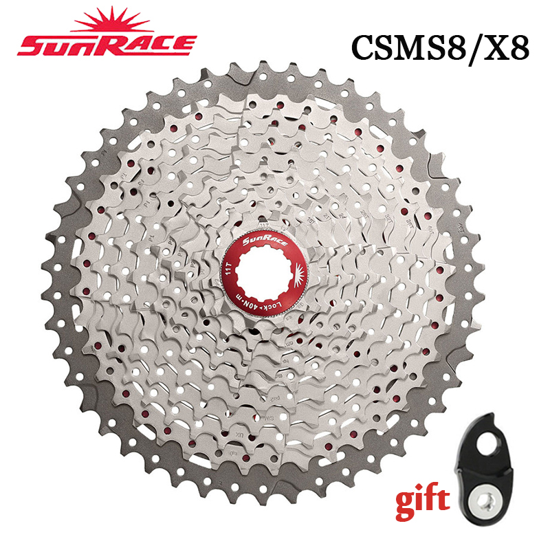 SunRace <font><b>11</b></font>-46 Casette <font><b>11</b></font> Speed CSMS8 CSMX8 MTB <font><b>Cassette</b></font> <font><b>11</b></font> Velocidade Moutain Bike Freewheel Fit Shimano SRAM Flywheel image