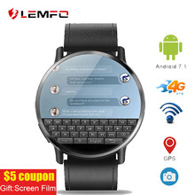 "Lemfo Lem X 2.03 ""4G Wifi Gps Smart Horloge Mannen Smartwatch Android 7.1 Met 8MP Camera Smart Horloges voor Mannen Bedrijvengids Sport Horloge(China)"