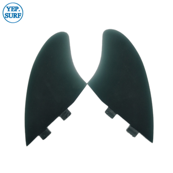 Surf Future/FCS surf fins Surfing green/black color Surfboard Future/FCS Fins Future Keel fin twin fins set Sell In Surfing фото