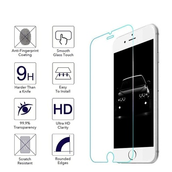 100 Pcs/lot 0.25mm Tempered Glass Screen Protector for iPhone X XR XS max 8 7 6 Plus 5S 5C SE 2.5D Tempered Glass Film Free DHL