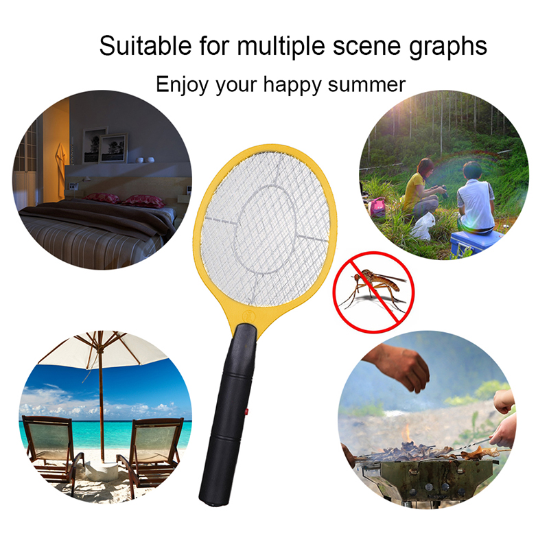 Portable 1PC Insect Fly Swatter LED Light Battery Powered Domestic Outdoor Mosquito Racket Electric Tennis Bat Handhold in Outdoor Tools from Sports Entertainment