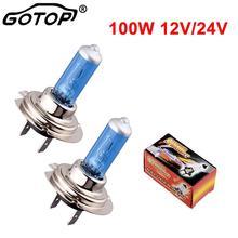 Motorcycle-Light-Lamp Car-Styling H7 Halogen Car-Headlight-Bulb Led-Bulb Fog-Lights Auto-Lamp