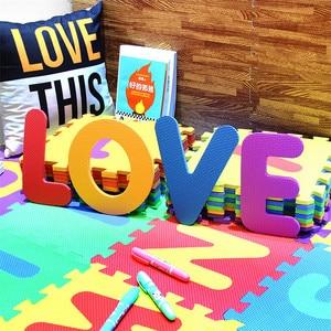 Image 4 - 26Pcs/set 30*30cm Cartoon English Alphabet Pattern Baby Crawling Mat Puzzle Toys For Kid EVA Foam Yoga Letter Mats Learning Toy