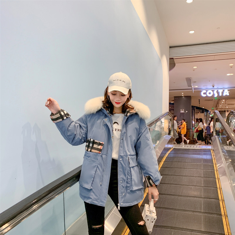 Down   Jackets Woman 2019bf Easy Will Code Parker Loose   Coat   Fox Hair Lead Back Season Special Selling Short A Tide