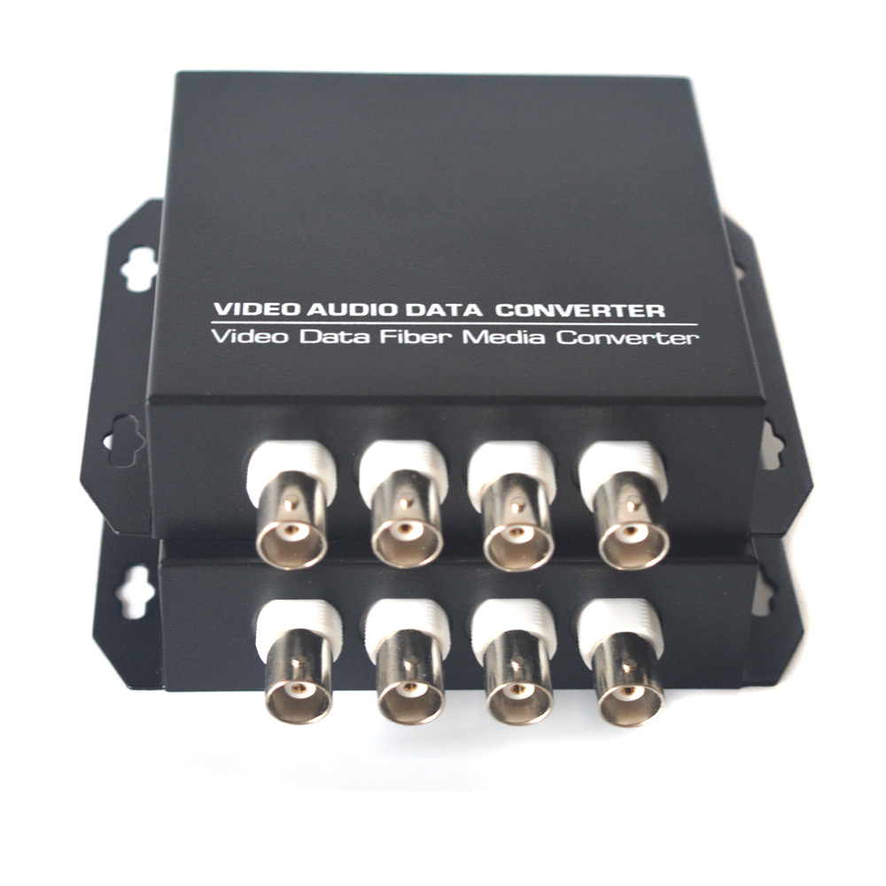 4 Channels Video Over Fiber Optic Extender Converters For Camera Surveillance Transmitter And Receiver Single Mode And Multimode