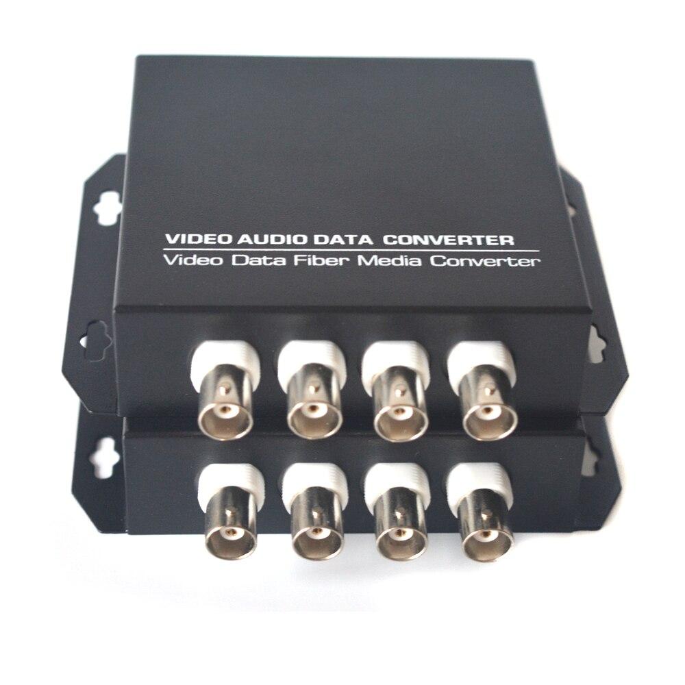 Convertisseurs vidéo à 4 canaux sur Fiber optique pour transmetteur et récepteur de Surveillance par caméra monomode et Multimode